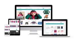 eShop Web Design for kids fashion store
